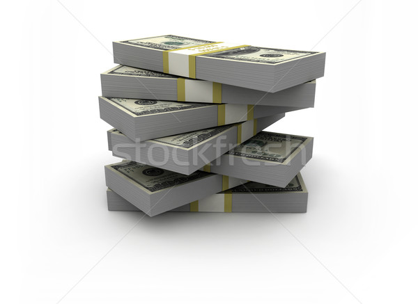 Stock photo: Big stack of money