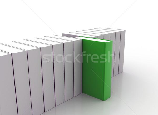 Libro pie fuera verde nuevos negocios Foto stock © jezper