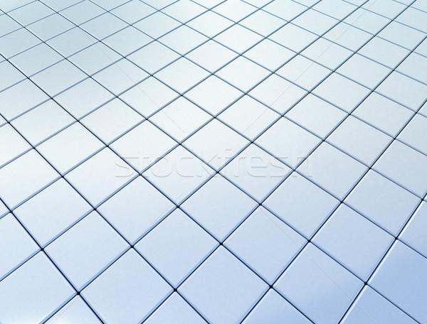 Fényes kék kockák textúra égbolt épület Stock fotó © jezper