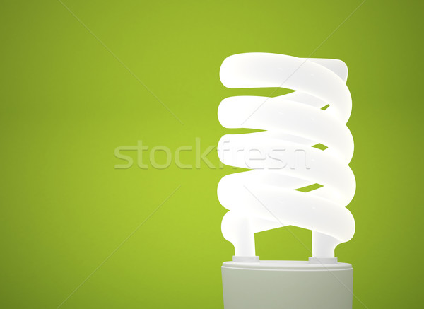 energy saving lightbulb green background Stock photo © jezper