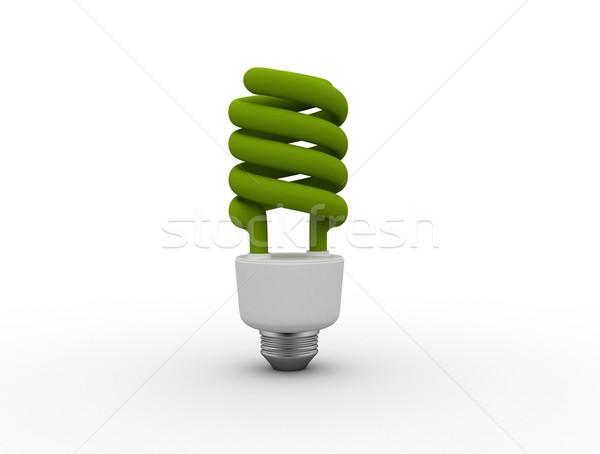 Zöld villanykörte energia takarékosság villanykörte technológia Stock fotó © jezper