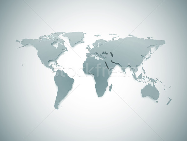 Blue business world map  Stock photo © jezper