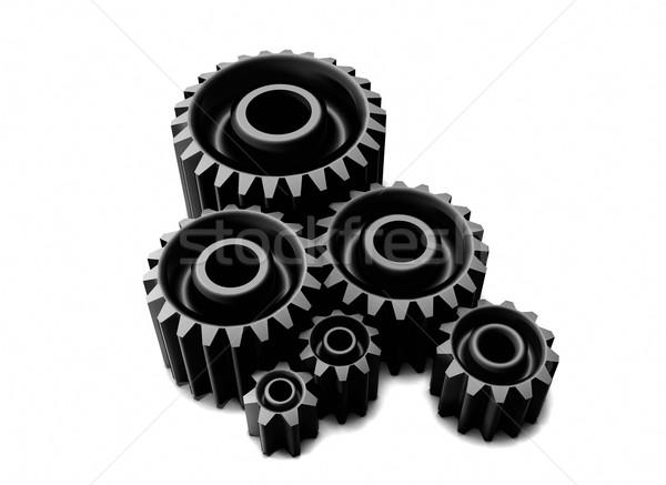 Foto stock: Metal · engrenagens · 3d · render · alto · negócio