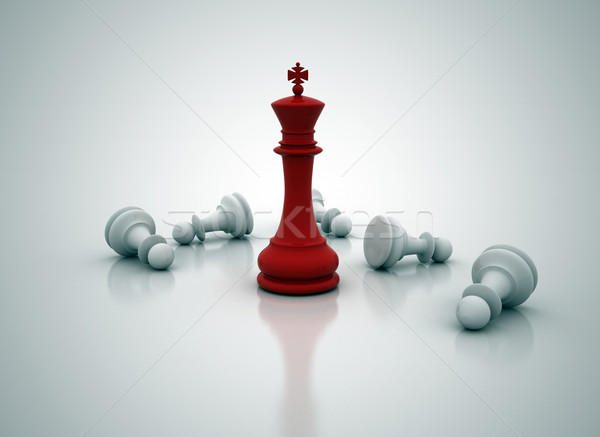 Chess king standing - game over Stock photo © jezper