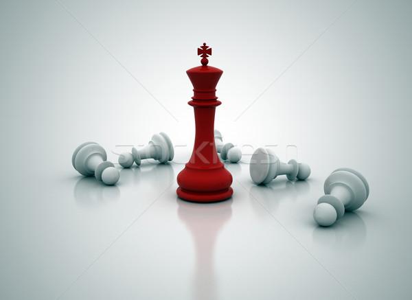 Rey del ajedrez pie juego negocios competencia ilustración Foto stock © jezper