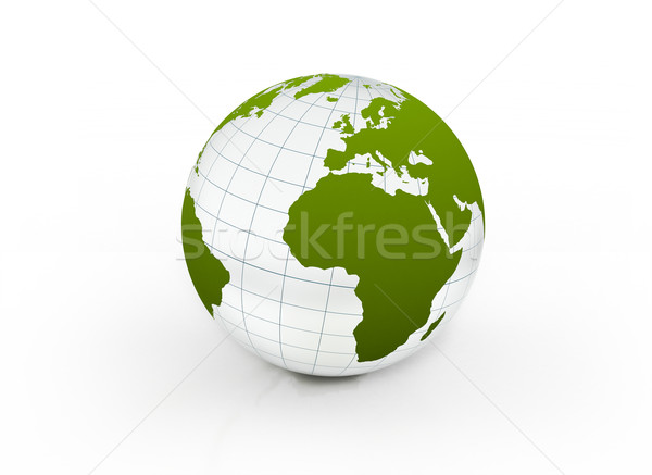 Vert verre monde science balle communication Photo stock © jezper