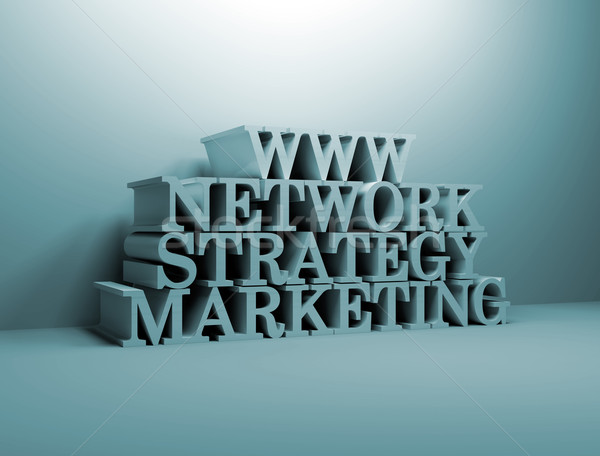 Stock photo: On line Marketing Strategy