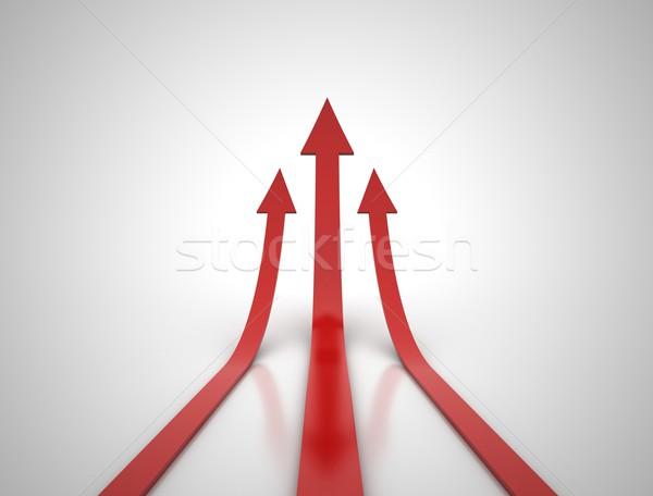 Three red arrows illustration Stock photo © jezper