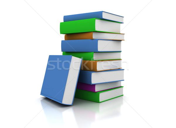 Colorato libri alto carta Foto d'archivio © jezper