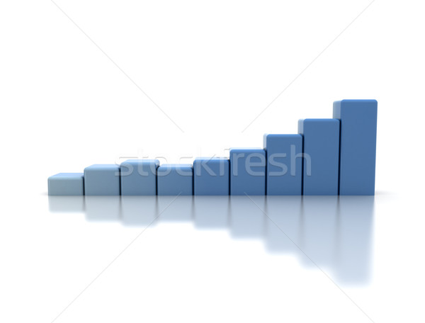 Blue business graph Stock photo © jezper