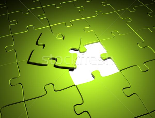 Zöld puzzle környezeti tiszta zöld energia üzlet Stock fotó © jezper