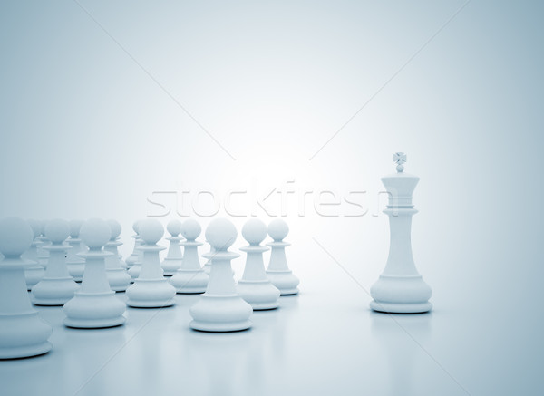Leadership illustration Stock photo © jezper