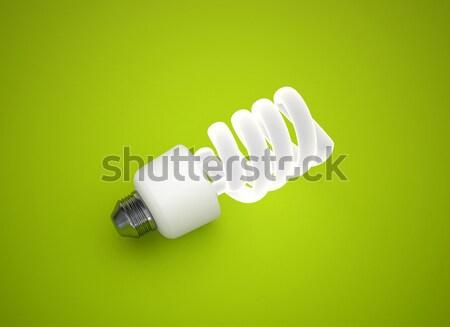 Energia takarékosság villanykörte zöld energia zöld absztrakt Stock fotó © jezper