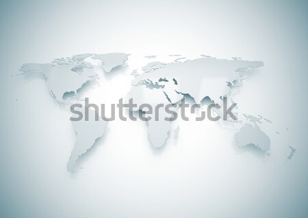Stock photo: World map metal