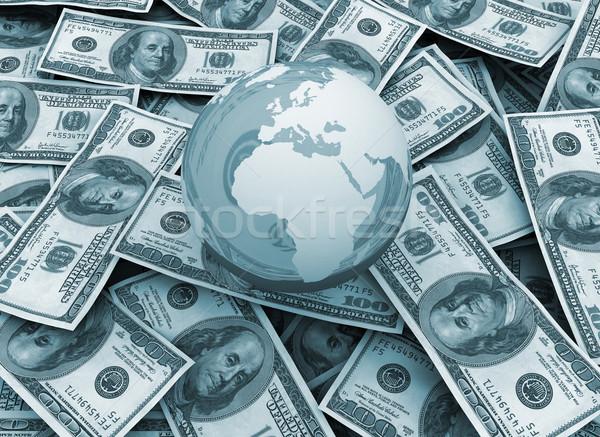 Photo stock: Mondial · économie · monde · monde · dollar · argent