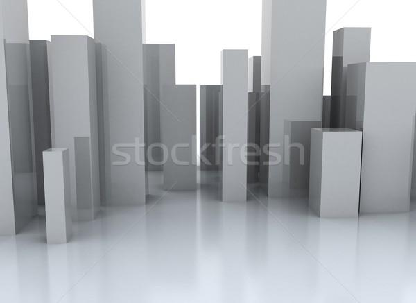 Abstrato cidade ilustração 3d edifício construção luz Foto stock © jezper