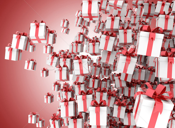 Celebración diseno caja de regalo fondo cuadro blanco Foto stock © jezper