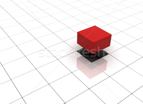 Individuality concept illustration cubes  Stock photo © jezper