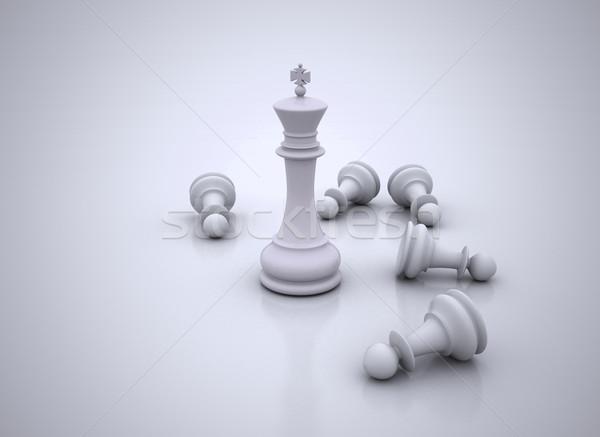Rey del ajedrez pie juego negocios ilustración fondo Foto stock © jezper