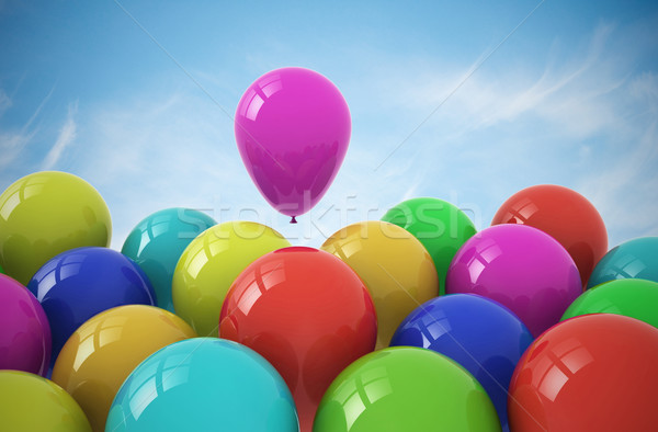 Party balloons on sky background Stock photo © jezper