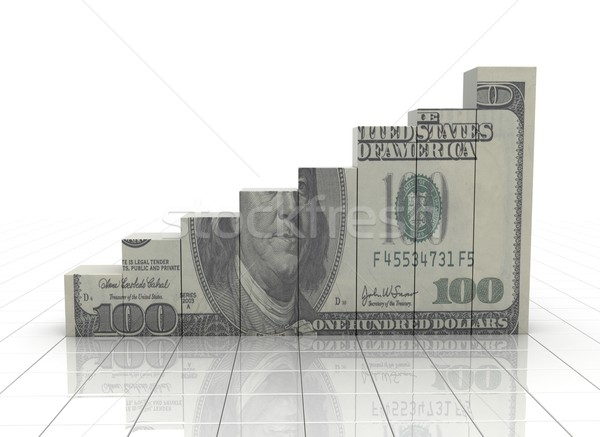 Money graph rising cash texture on white background Stock photo © jezper
