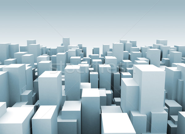 Abstract city made of cubes  Stock photo © jezper
