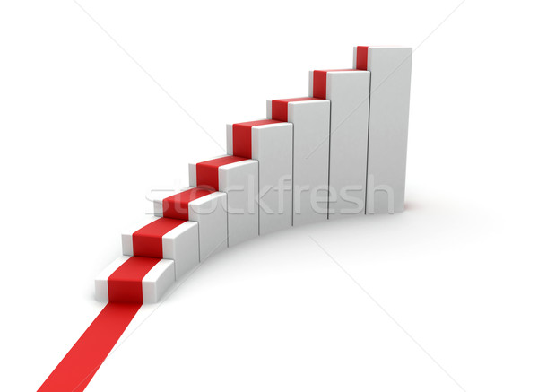 Rising stairs with red carpet  Stock photo © jezper