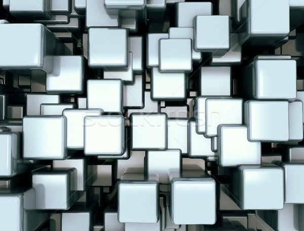 Stockfoto: Abstract · Blauw · hemel · textuur · gebouw