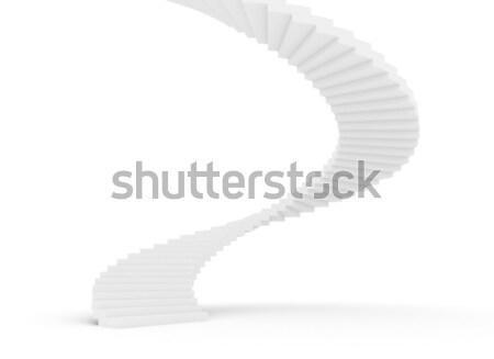 Escada caso spiralis branco luz assinar Foto stock © jezper
