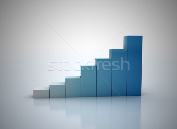 3d financial graph stat business background Stock photo © jezper