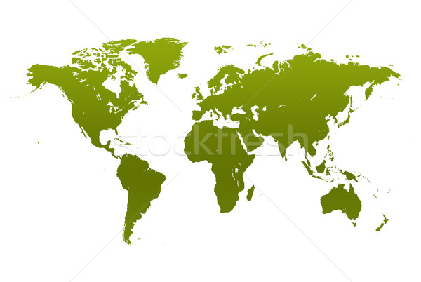 Mapa do mundo verde ambiental isolado branco mapa Foto stock © jezper