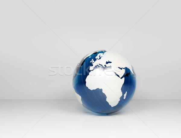 üveg világ földgömb kék internet térkép Stock fotó © jezper