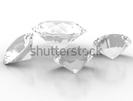 Diamond with blue shade  Stock photo © jezper
