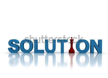Solution illustration design signe web échecs Photo stock © jezper