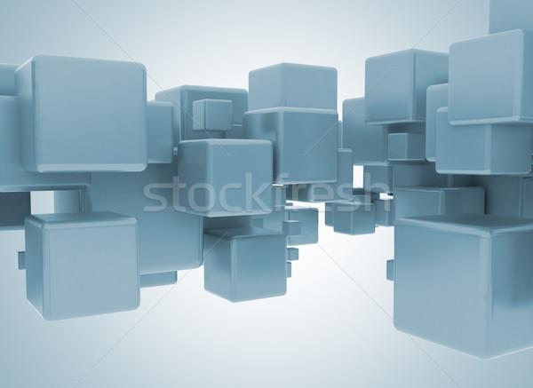 3D kockák absztrakt illusztráció technológia háttér Stock fotó © jezper