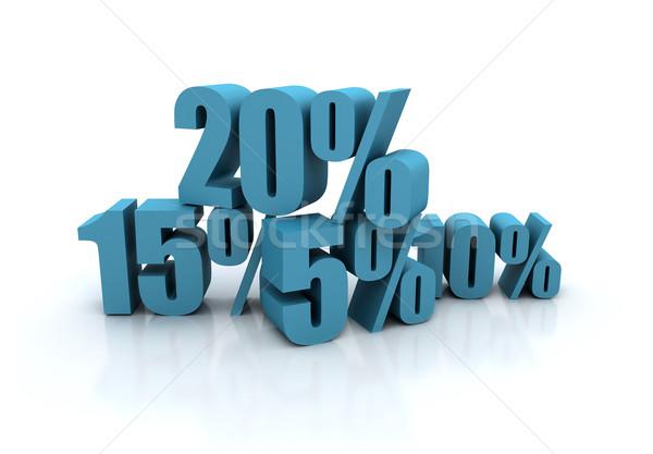 árengedmény illusztráció százalék üzlet felirat kék Stock fotó © jezper