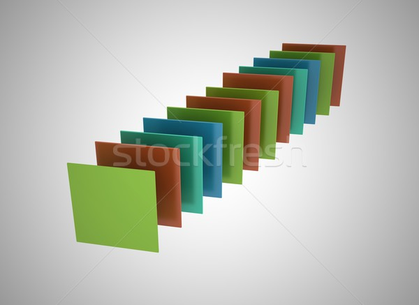 Abstract multi colored squares background  Stock photo © jezper