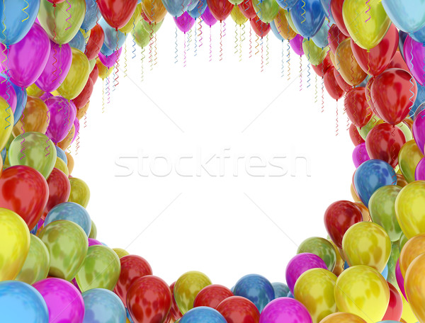 Colorful birthday party balloons isolated on white background Stock photo © jezper