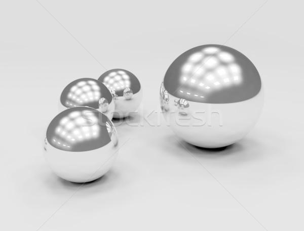 Fém gömbök textúra terv művészet tudomány Stock fotó © jezper