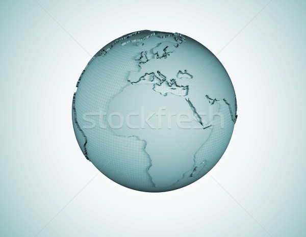 Wire frame world globe background  Stock photo © jezper