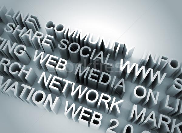 Közösségi média illusztráció számítógép internet terv technológia Stock fotó © jezper