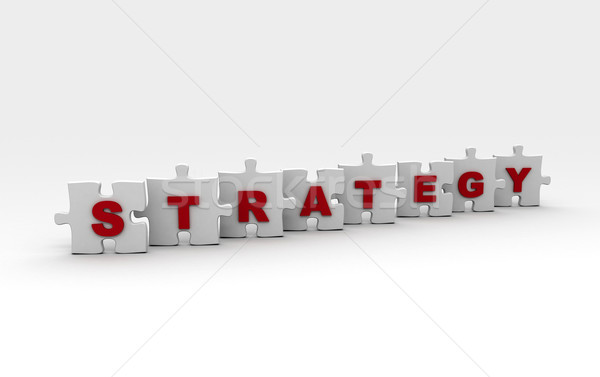 Stratégia ki kirakó darabok piros kommunikáció siker Stock fotó © jezper