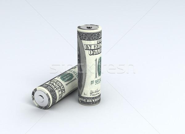 batteries and cash Stock photo © jezper