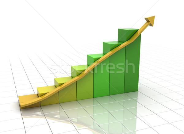 Grafico di affari bianco arrow colore cambiare abstract Foto d'archivio © jezper
