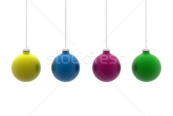 Multi colored christmas balls Stock photo © jezper