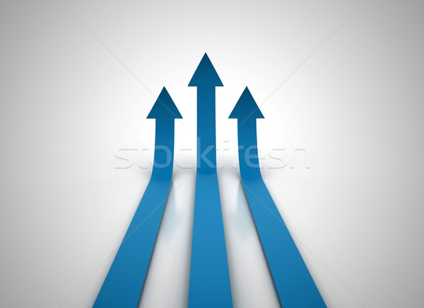 Three red arrows going up - success concept illustration Stock photo © jezper