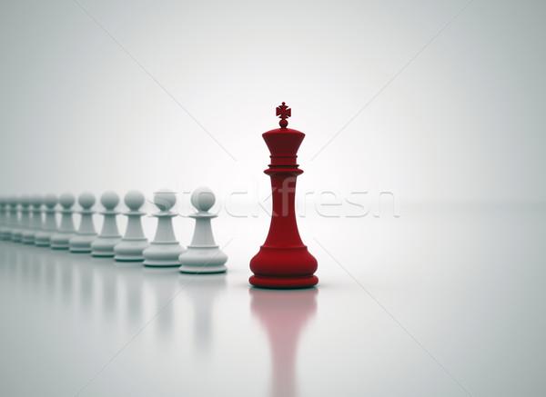 Irányítás üzlet sakk király elöl felirat kék Stock fotó © jezper