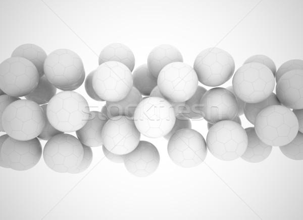 Futball golyók repülés 3d render textúra háttér Stock fotó © jezper