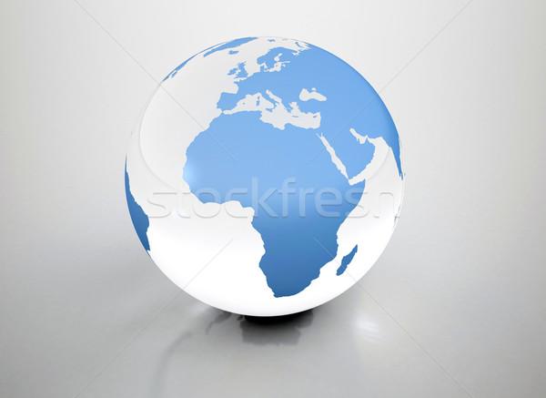 Mundo globo reflexão projeto terra oceano Foto stock © jezper