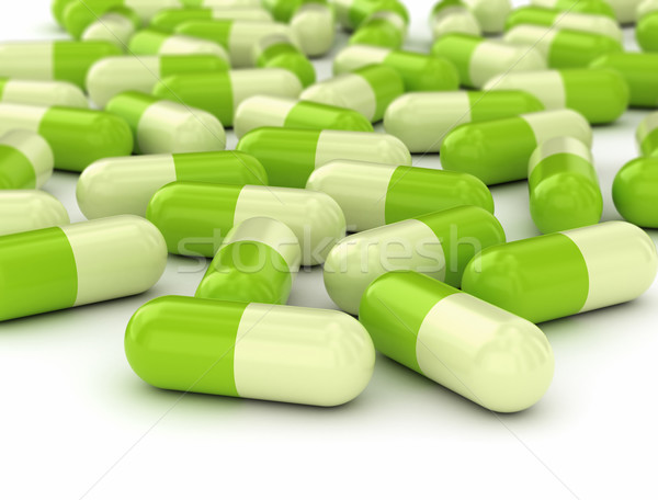 Green pills  Stock photo © jezper